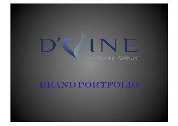 D'Vine Distillates All Brands Brochure. Devine Distillates Group
