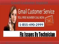 Gmail not working properly? Give us a call on 1-855-490-2999 our Gmail customer help support number