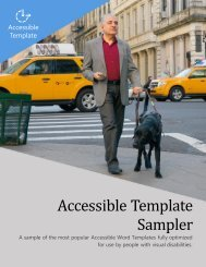 Accessible Template Sampler