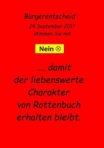 Bürgerentscheid Plakat 2