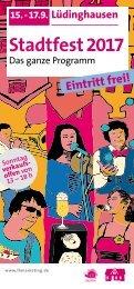 Stadtfest Programm 2017