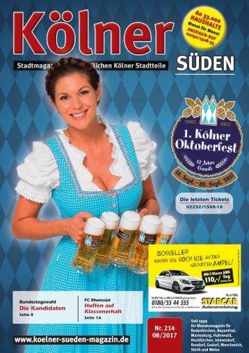 Kölner Süden Magazin August 2017