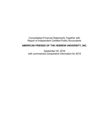 AFHU 2016 Audited Financial Statements