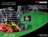 Confined space Justification