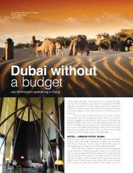 Dubai Without a Budget