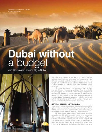 Dubai Without a Budget