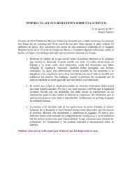 MOREIRA VS AGUAYO. UNA MAÑANA EN EL JUZGADO 31 de agosto de 2017