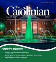 The Carolinian - Vol. 55, Issue 1 - Aug. 28, 2017