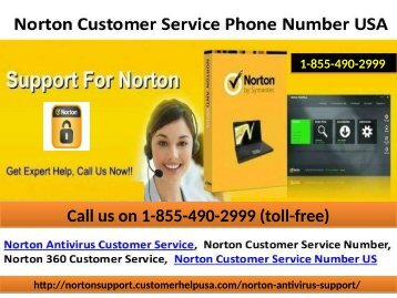 Norton Antivirus Support Number ring on 1-855-490-2999 (toll-free)