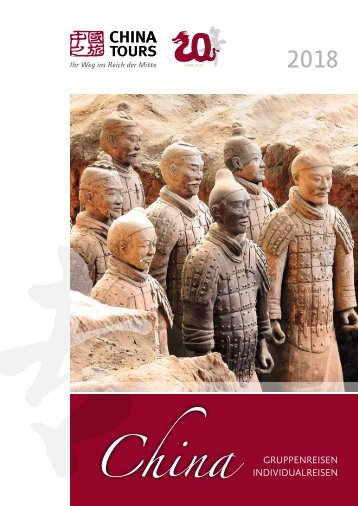 China Tours Jubiläums-Katalog 2018