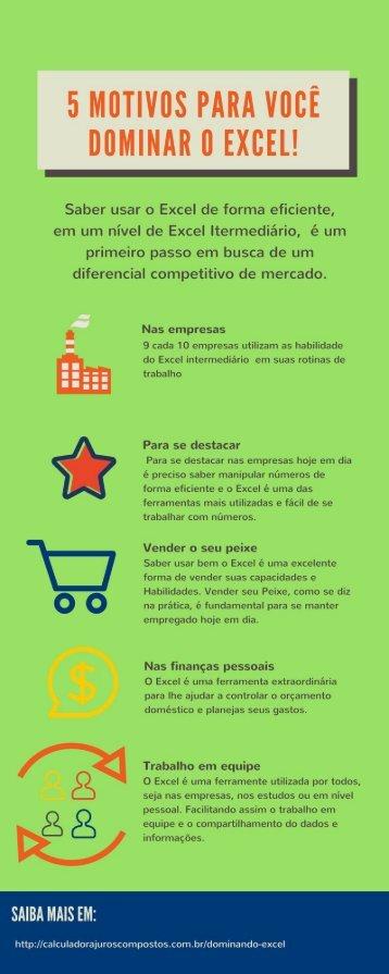5 motivos para dominar o Excel!
