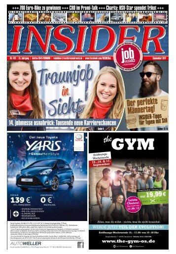 INSIDER Osnabrück // September 2017 // No. 410