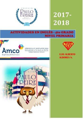 ACTIVIDADES 2017-2018 INGLÉS 4to GRADO