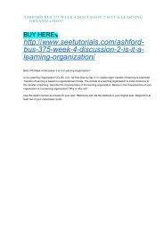 ASHFORD BUS 375 WEEK 4 DISCUSSION 2 IS IT A LEARNING ORGANIZATION?