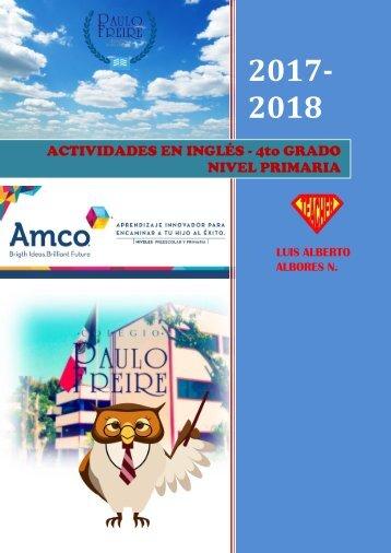 ACTIVIDADES 2017-2018 4to GRADO INGLÉS