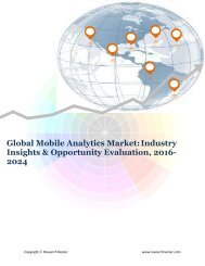Global Mobile Analytics Market (2016-2024)- Research Nester