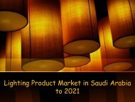 Lighting Product Market in Saudi Arabia