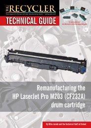 Remanufacturing the HP LaserJet Pro M203 (CF232A) drum cartridge