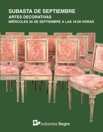 ARTES DECORATIVAS SEPTIEMBRE 2017
