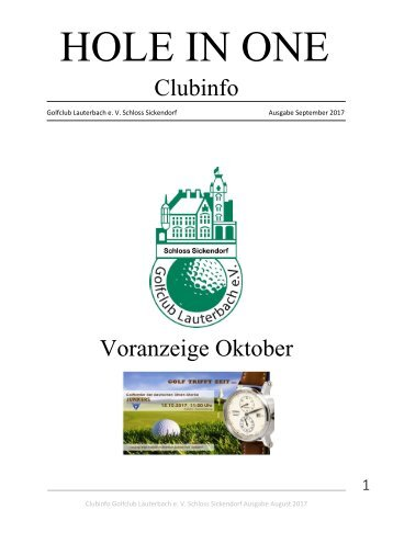 Clubinfo September 2017