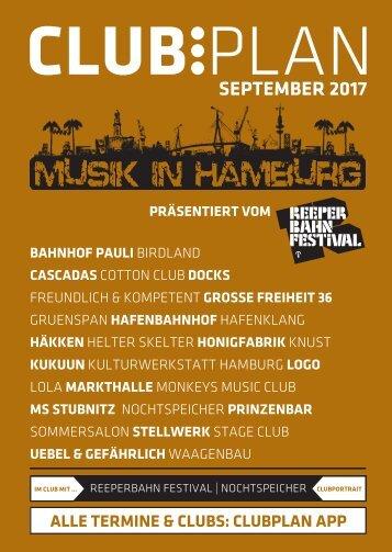 Clubplan Hamburg - September 2017