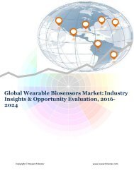 Global Wearable Biosensors Market (2016-2024)- Research Nester