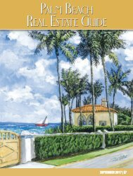 September 2017 Palm Beach Real Estate Guide