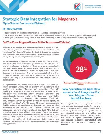 Strategic Data Integration for Magento's Open Source Ecommerce Platform