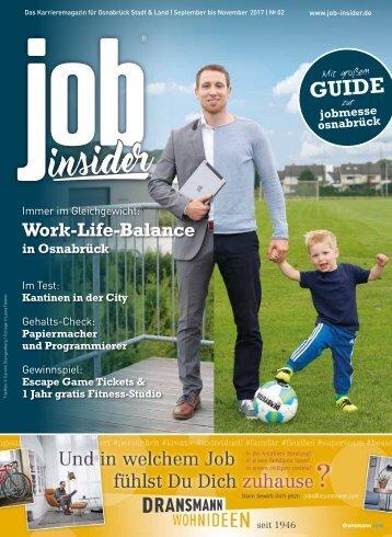 jobinsider No. 2 // Das Karrieremagazin für Osnabrück Stadt & Land