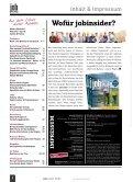 jobinsider No. 2 // Das Karrieremagazin für Osnabrück Stadt & Land - Page 2