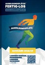 AUSBILDUNGSPLÄTZE - FERTIG - LOS |Landkreis Konstanz, Bodenseekreis, Landkreis Ravensburg 2018/19