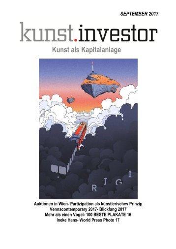 KUNSTINVESTOR AUSGABE SEPTEMBER 2017