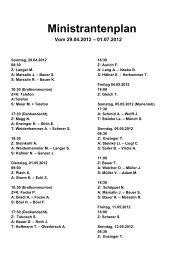 Ministrantenplan Vom 29.04.2012