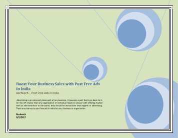 Boost Your Business Sales with Post Free Ads in India