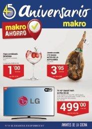 Makro ofertas 45 aniversario hasta 10 de Octubre 2017