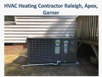 HVAC Heating Contractor Raleigh, Apex, Garner