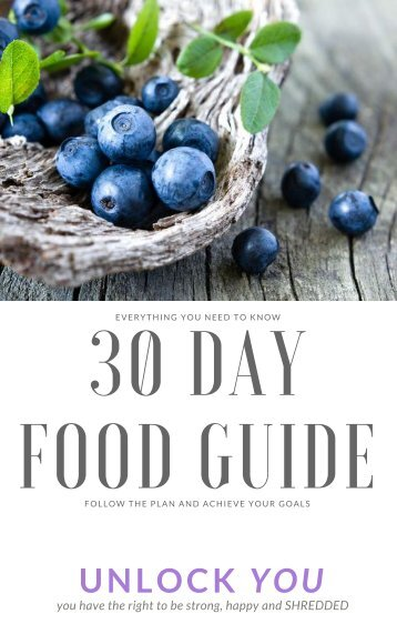 30 Day Food Guide