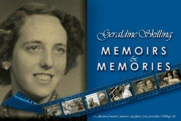 Geraldine Skilling - Memoirs & Memories