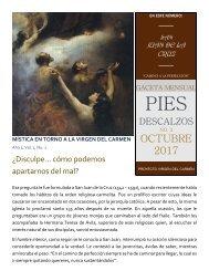 Gaceta Mensual Pies Descalzos, Septiembre 2017: San Juan de la Cruz