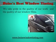 professional home window tinting in Boise