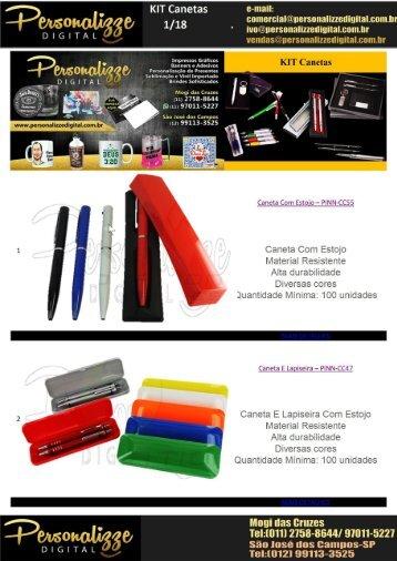 Kit de Canetas Personalizaveis