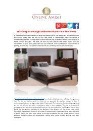 Searching for the Right Bedroom Set For Your New Home
