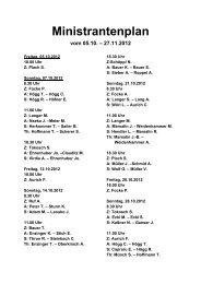 Ministrantenplan vom 05.10. – 27.11.2012
