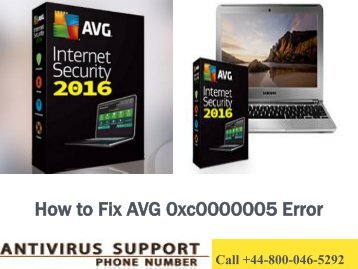 Fix AVG 0xc0000005 Error? Call +44-800-046-5292