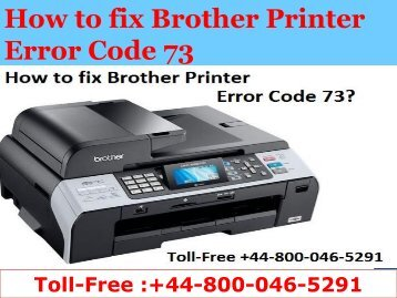 8000465291  How to fix Brother Printer Error Code 73