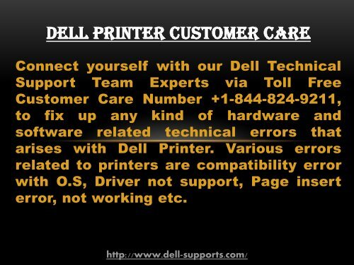 Dell Help and Support Number +1-844-824-9211