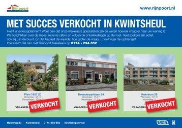 Met succes verkocht in Kwintsheul, door Rijnpoort Makelaars