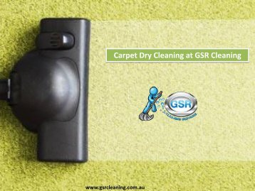 Carpet Dry Cleaning at GSR Cleaning