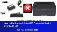 How to Fix Brother Printer USB Composite Device Error Code 10