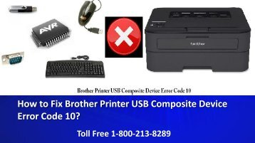 How to Fix Brother Printer USB Composite Device Error Code 10